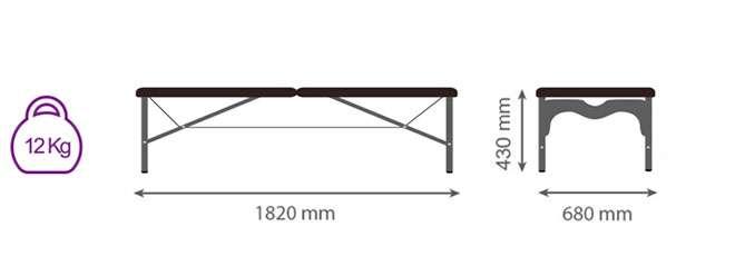 Medidas camilla plegable CP-261