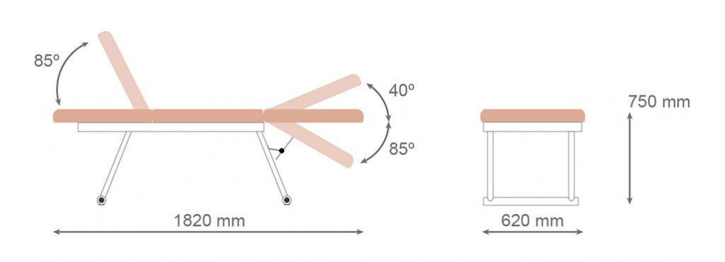 Medidas camilla fija CF-678 - Kironoa