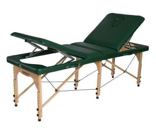 Camilla plegable de madera doble articulación CP-271 Respaldo y piernas arriba