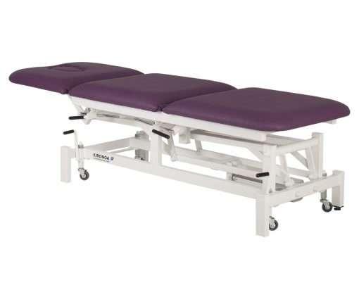 camilla eléctrica CE-802 con respaldo y zona piernas articuladas de 3 cuerpos extendida lateral