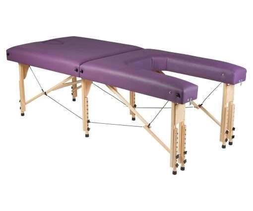 Camilla plegable de madera CP-270 - lateral ángulo