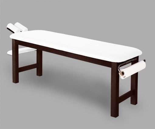 Camilla fija madera con cabezal basculante 14M50 blanco - Noa & Noe