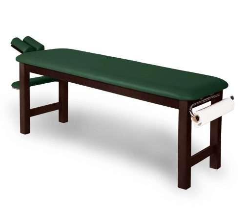 Camilla fija madera con cabezal basculante 14M50 verde - Noa & Noe