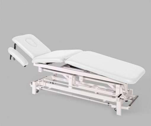 Camilla electrica de tres cuerpos con brazos regulables E46 blanco - Noa & Noe
