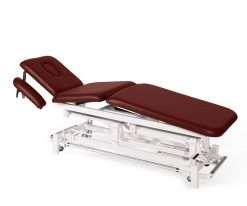 Camilla electrica de tres cuerpos con brazos regulables E46 burdeos - Noa & Noe