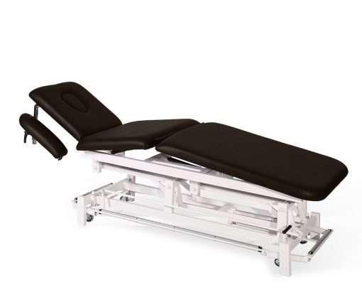 Camilla electrica de tres cuerpos con brazos regulables E46 choco - Noa & Noe