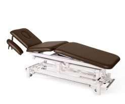 Camilla electrica de tres cuerpos con brazos regulables E46 cuero - Noa & Noe