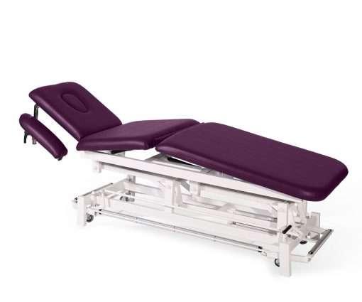 Camilla electrica de tres cuerpos con brazos regulables E46 morado - Noa & Noe