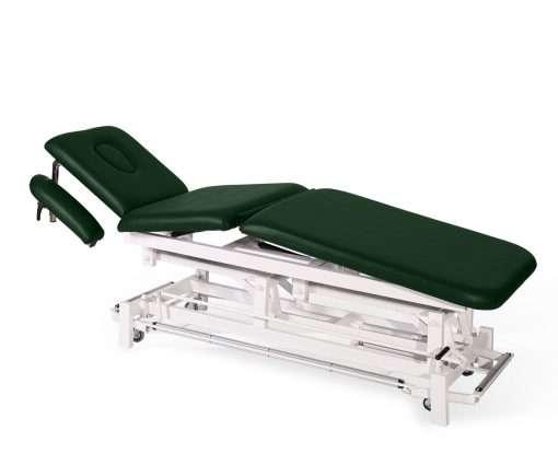Camilla electrica de tres cuerpos con brazos regulables E46 verde - Noa & Noe