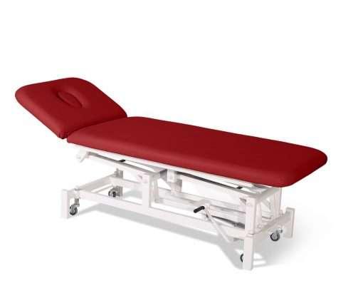 Camilla hidráulica de dos cuerpos con respaldo articulado 14H45 rojo - Noa & Noe