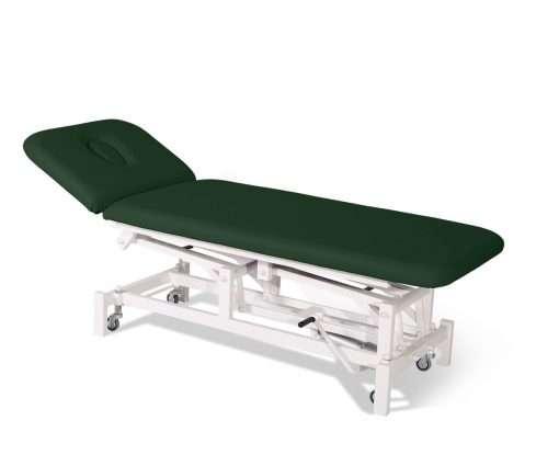 Camilla hidráulica de dos cuerpos con respaldo articulado 14H45 verde - Noa & Noe