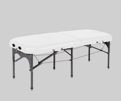camilla plegable de aluminio con seis apoyos 14P28 blanco - Noa & Noe