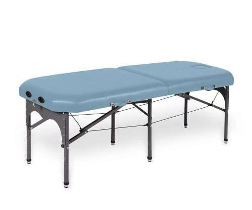 camilla plegable de aluminio con seis apoyos 14P28 cielo - Noa & Noe