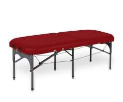 camilla plegable de aluminio con seis apoyos 14P28 rojo - Noa & Noe