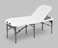 Camilla plegable de aluminio 14P27 articulada blanco - Noa & Noe