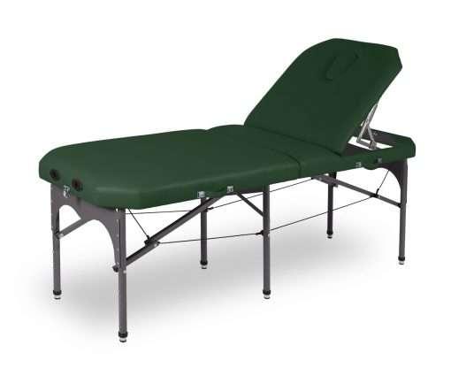 Camilla plegable de aluminio 14P27 articulada Verde - Noa & Noe