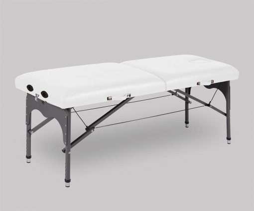 Camilla plegable de aluminio ligera P35 color blanco - Noa & Noe