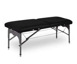 Camilla plegable de aluminio ligera P35 color negro - Noa & Noe