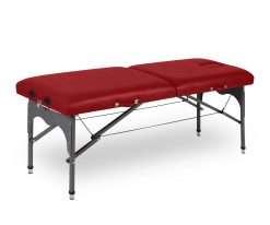 Camilla plegable de aluminio ligera P35 color rojo - Noa & Noe