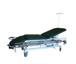 camilla hidráulica de 3 cuerpos para traslados con barandilla y soporte para gotero ch-907
