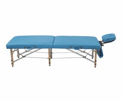 Camilla plegable plana madera para fisioterapia y osteopatía CP-281 lateral