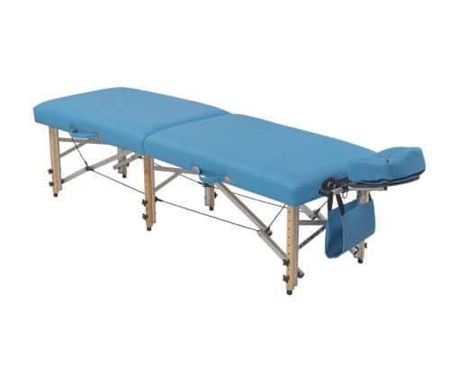 Camilla plegable plana madera para fisioterapia y osteopatía CP-281 izqda