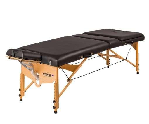 Camilla plegable de madera CP-240 cabezal articulado v izqda 1