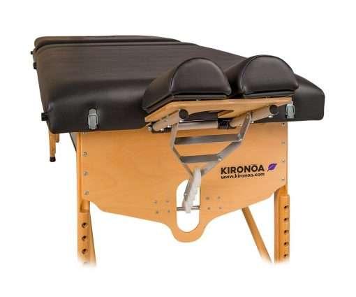 Camilla plegable de madera CP-240 v frontal articulacion cabezal