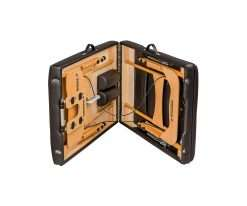 Camilla plegable de madera CP-240 v medio plegada