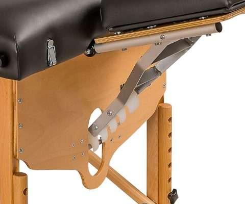 Mecanismo de fijación del cabezal, camilla plegable de madera CP-240