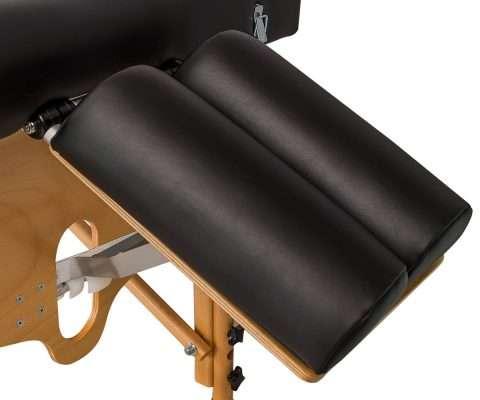 Camilla plegable de madera plana CP-241 cabezal articulado detalle 2
